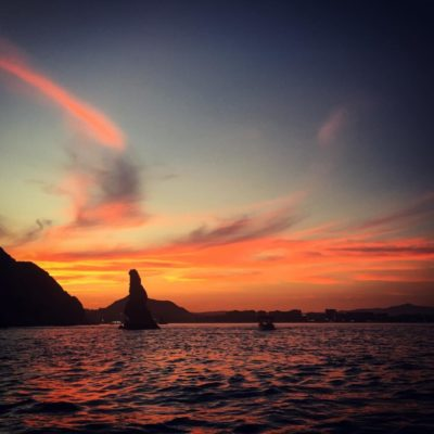 Sunset before a night dive in Cabo San Lucas