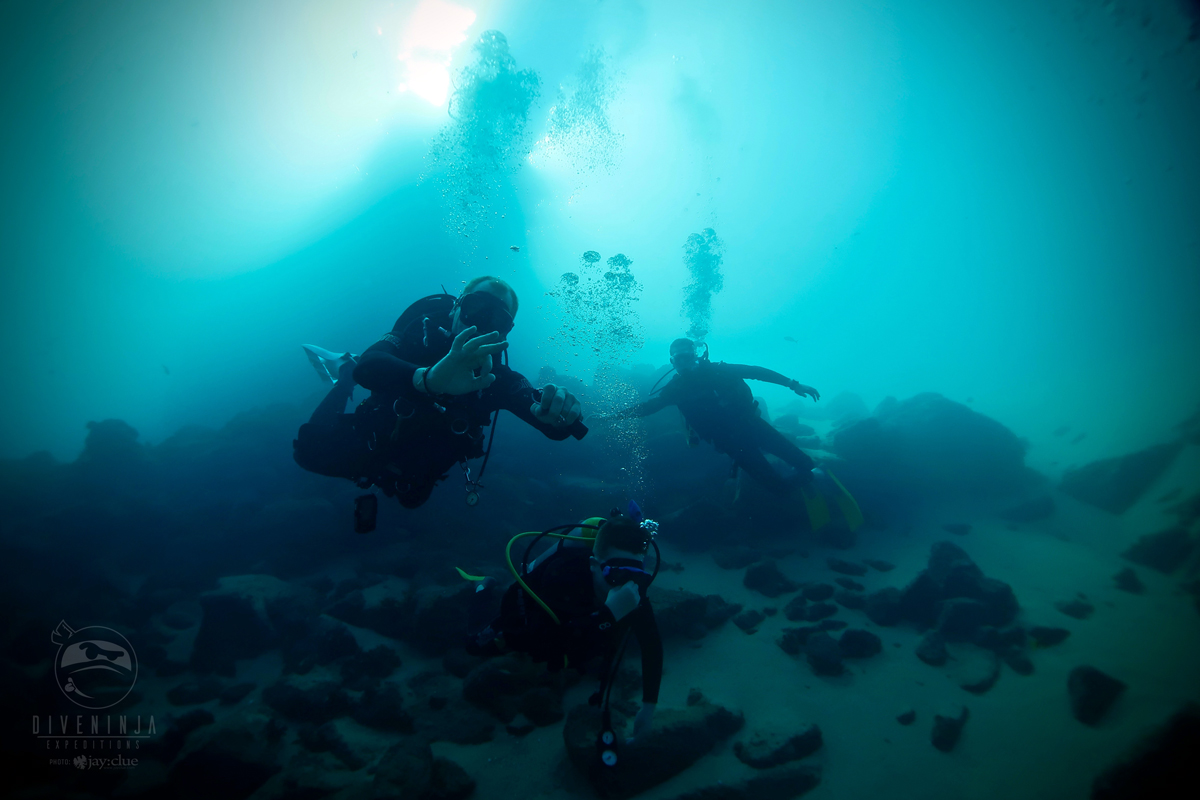 Divers at Pelican Rock
