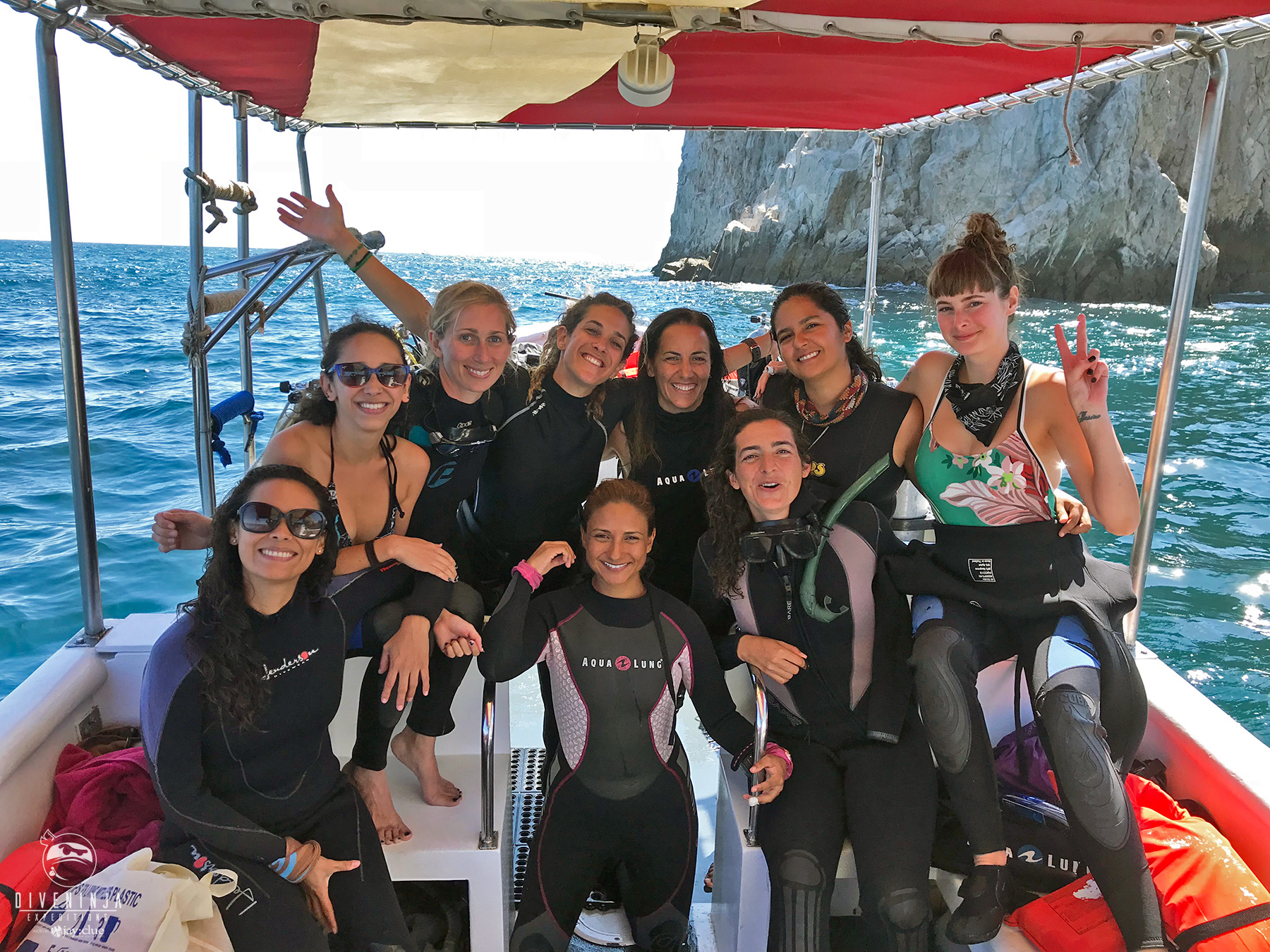 Frida Lara at PADI Women's Dive Day Los Cabos Mexico