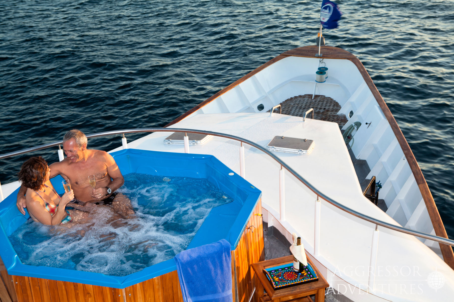 Galapagos Aggressor III hot tub