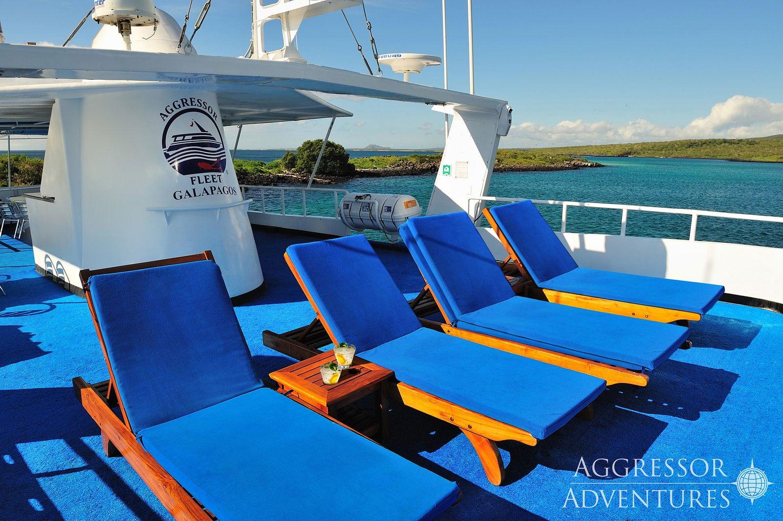 Galapagos Aggressor III sun deck