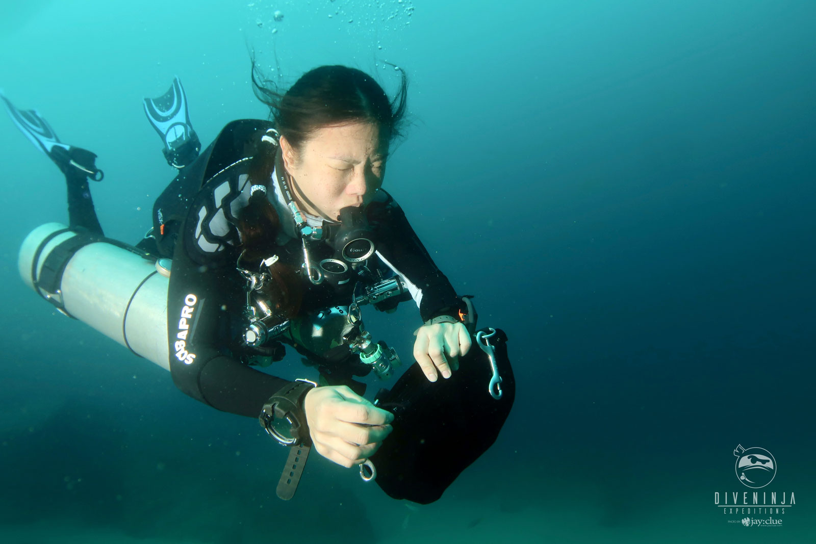 Diving with manta rays in Baja California Sur, Mexico