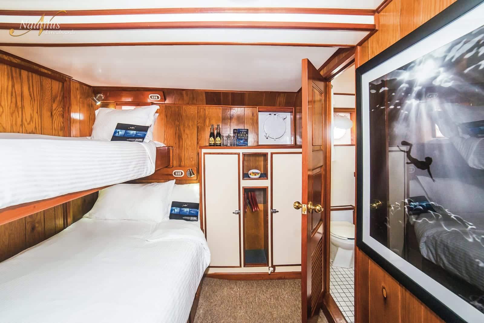 Nautilus Undersea liveaboard socorro double stateroom