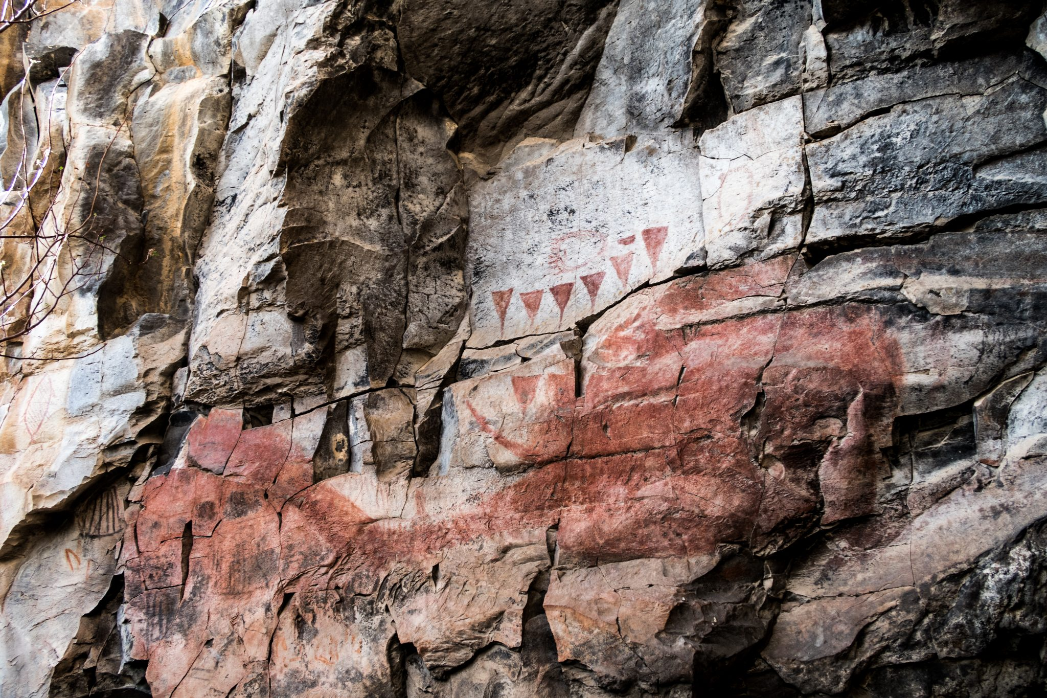 Cave painting fo whale in Loreto, BCS Mexico