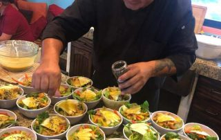 chef prepared meals on the Dive Ninja mobula ray expeditions