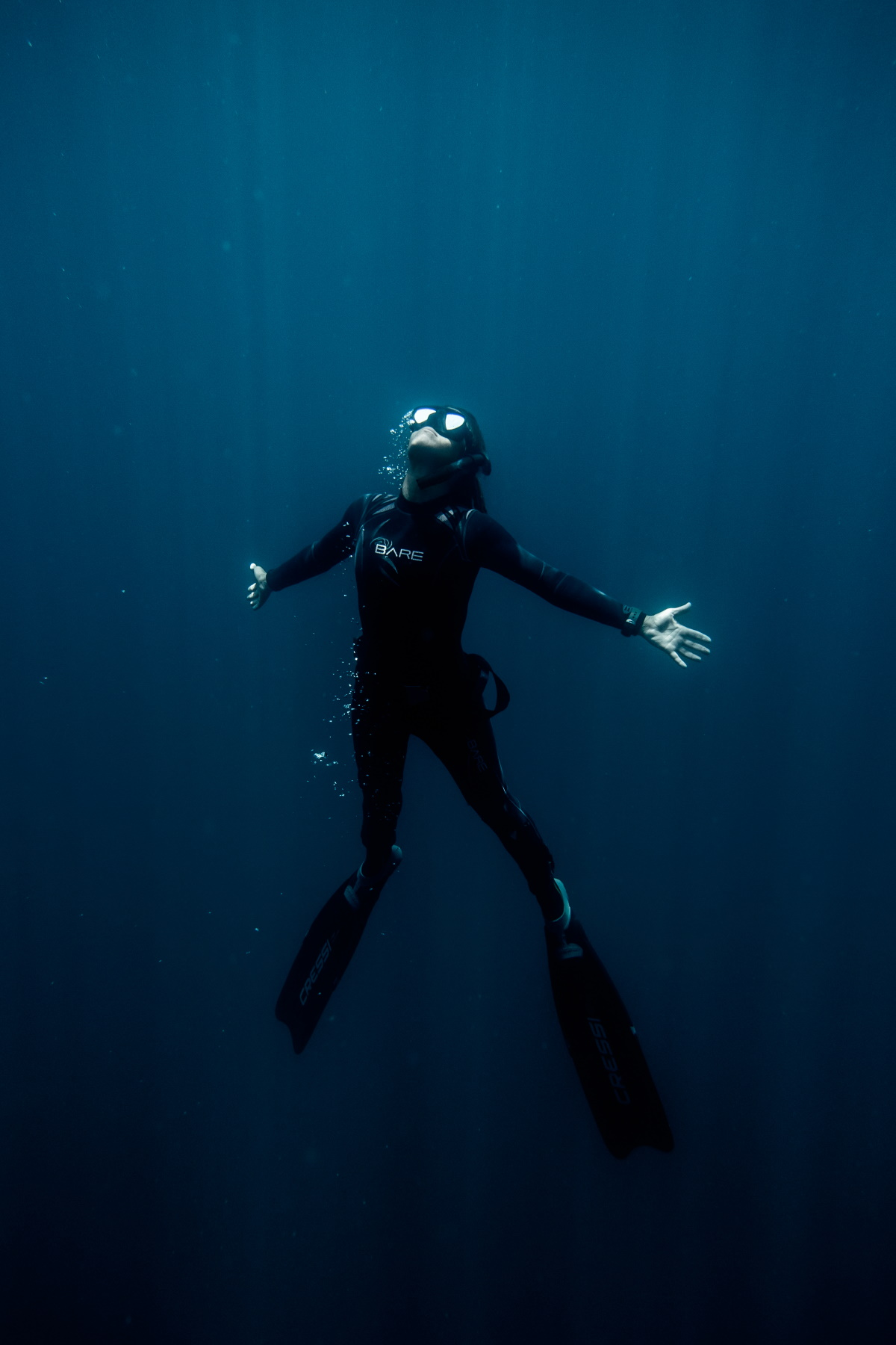 Frrediving Mobula expedition Dive Nina WExpeditions in Baja California Sur