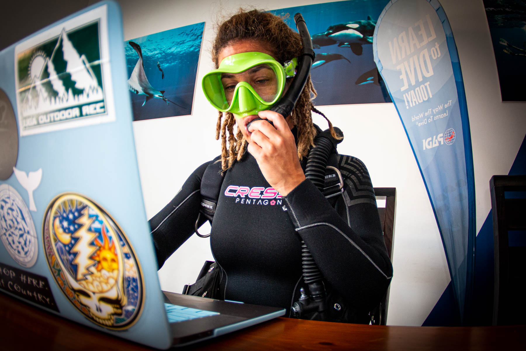 Scuba Dive In Dive Ninjas Office In Cabo San Lucas