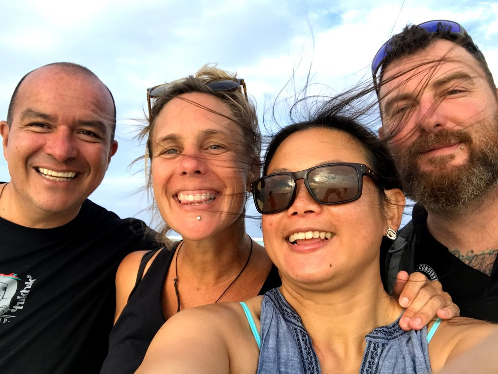 Camilo, Sabina, Sze Wei and Jay in the Maldives - on expedition with Dive Ninjas