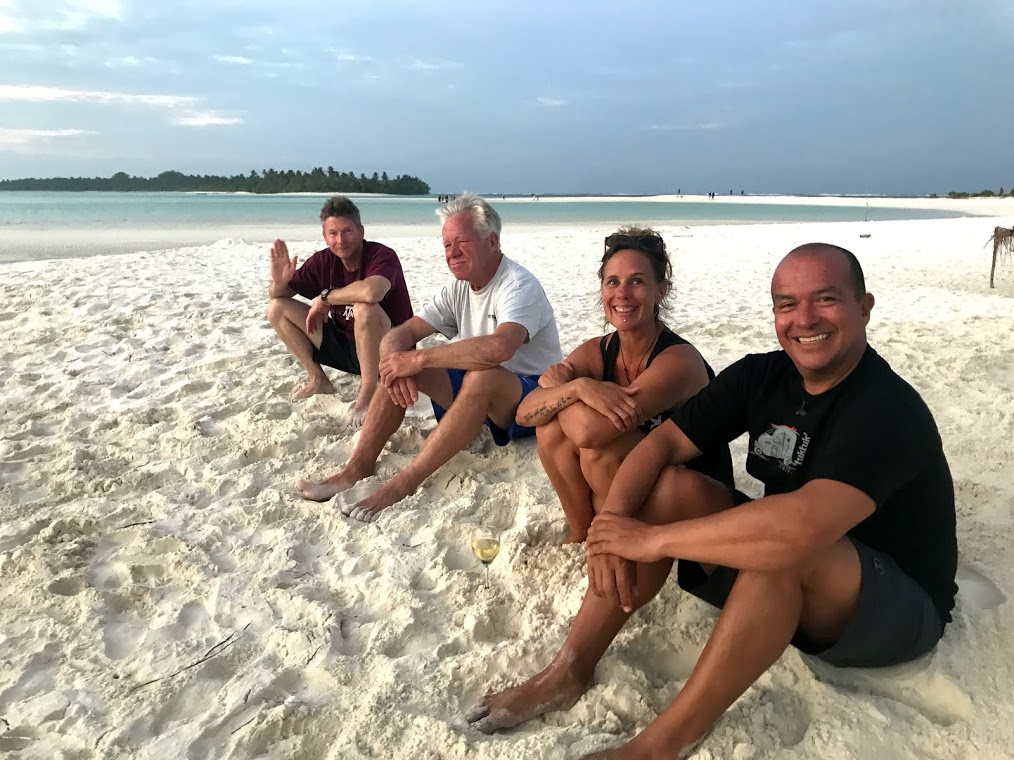 Camilo, Sabina, Charlie and Greg in the Maldives! On expedition with Dive Ninjas