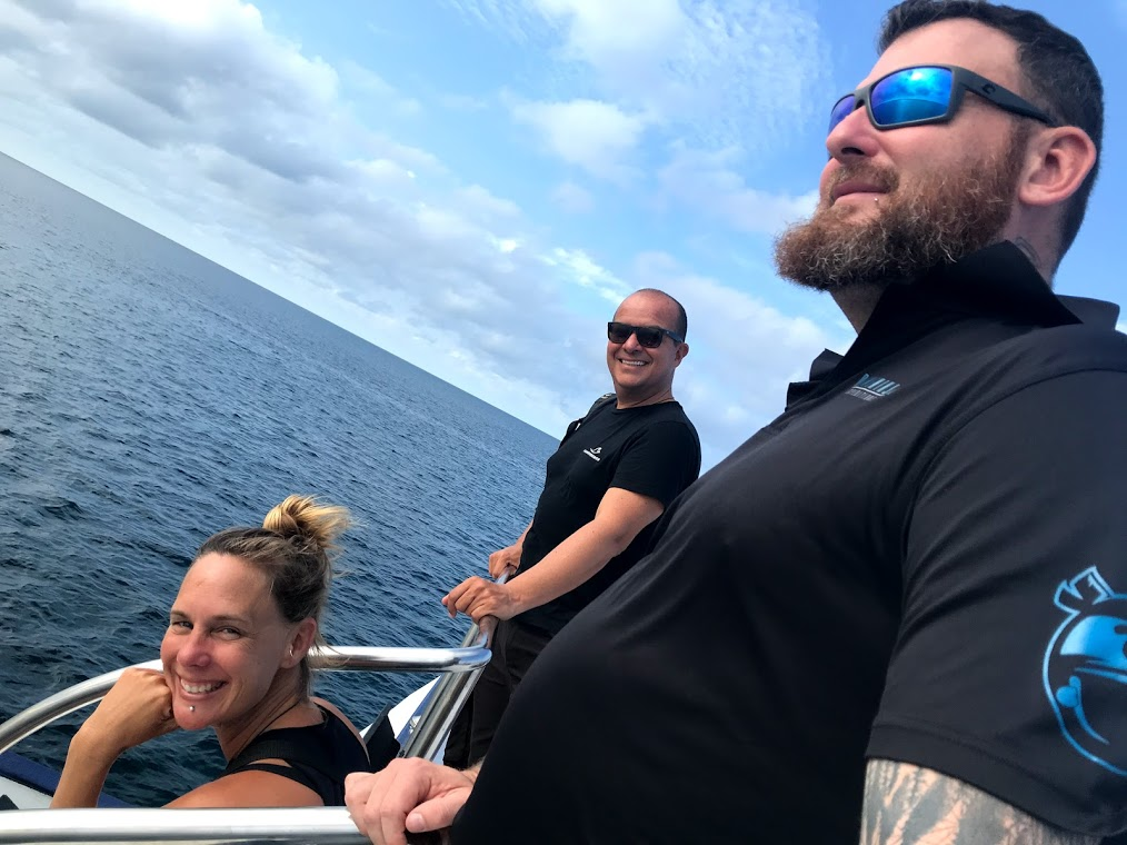 Jay, Camilo and Sabina! On expedition with Dive Ninjas in the Maldives