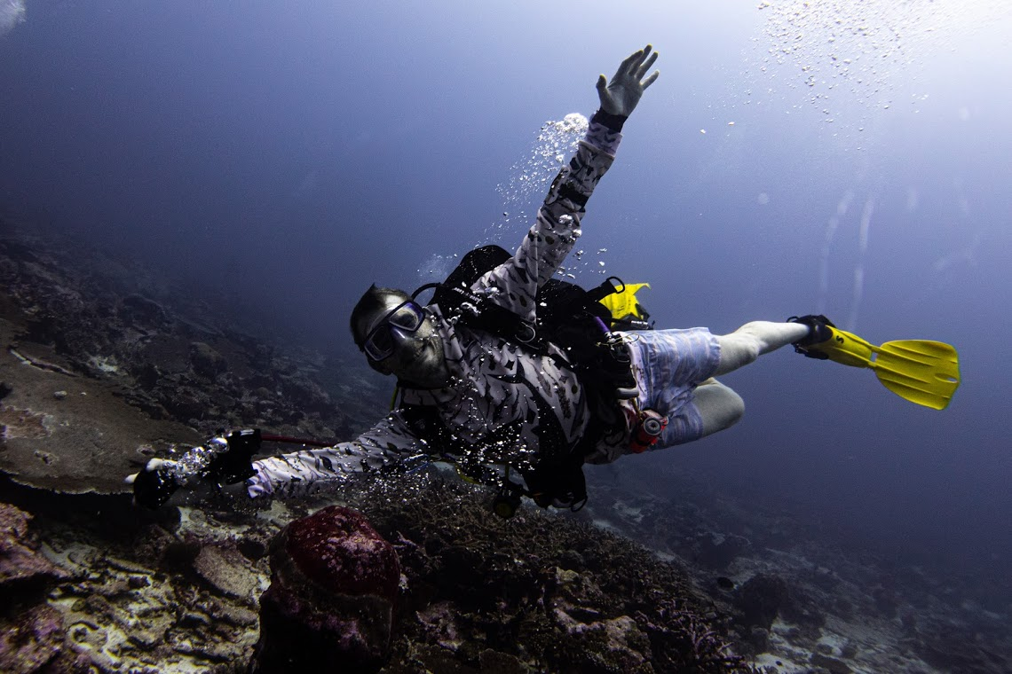 Ben! On expedition with Dive Ninjas in the Maldives