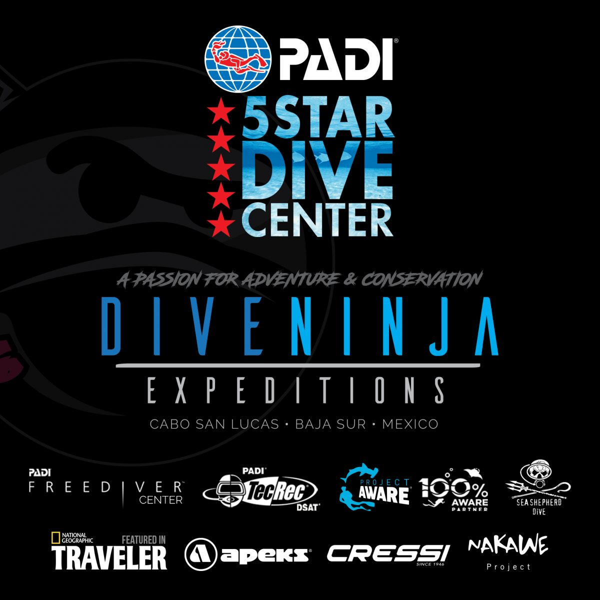 Dive Ninja Expeditions - PADI 5 Star Dive Center in Los Cabos, Mexico