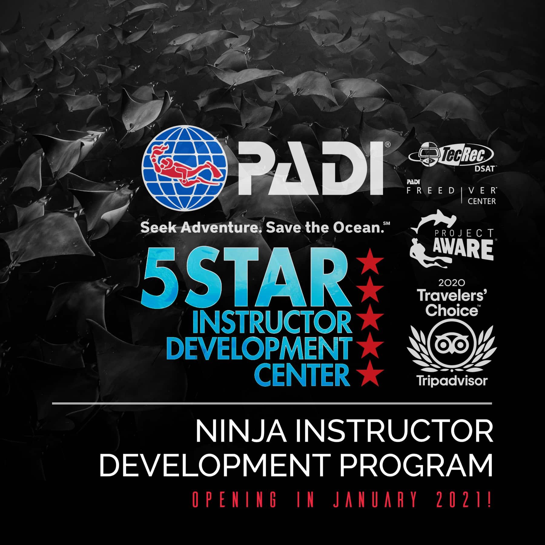 Ninja PADI Instructor Development Course IDC in Los Cabos, Mexico