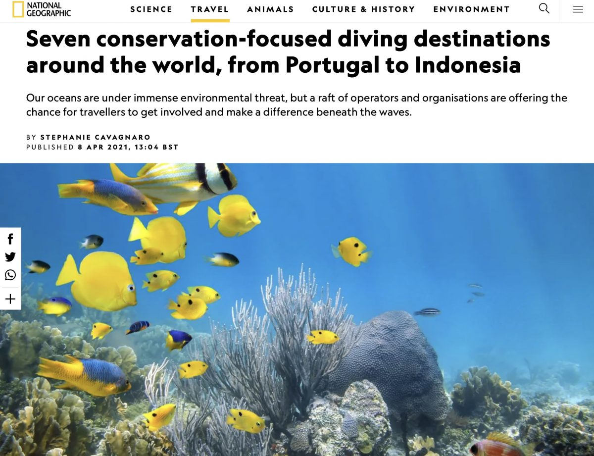 National Geographic 7 conservation focused dive destinations