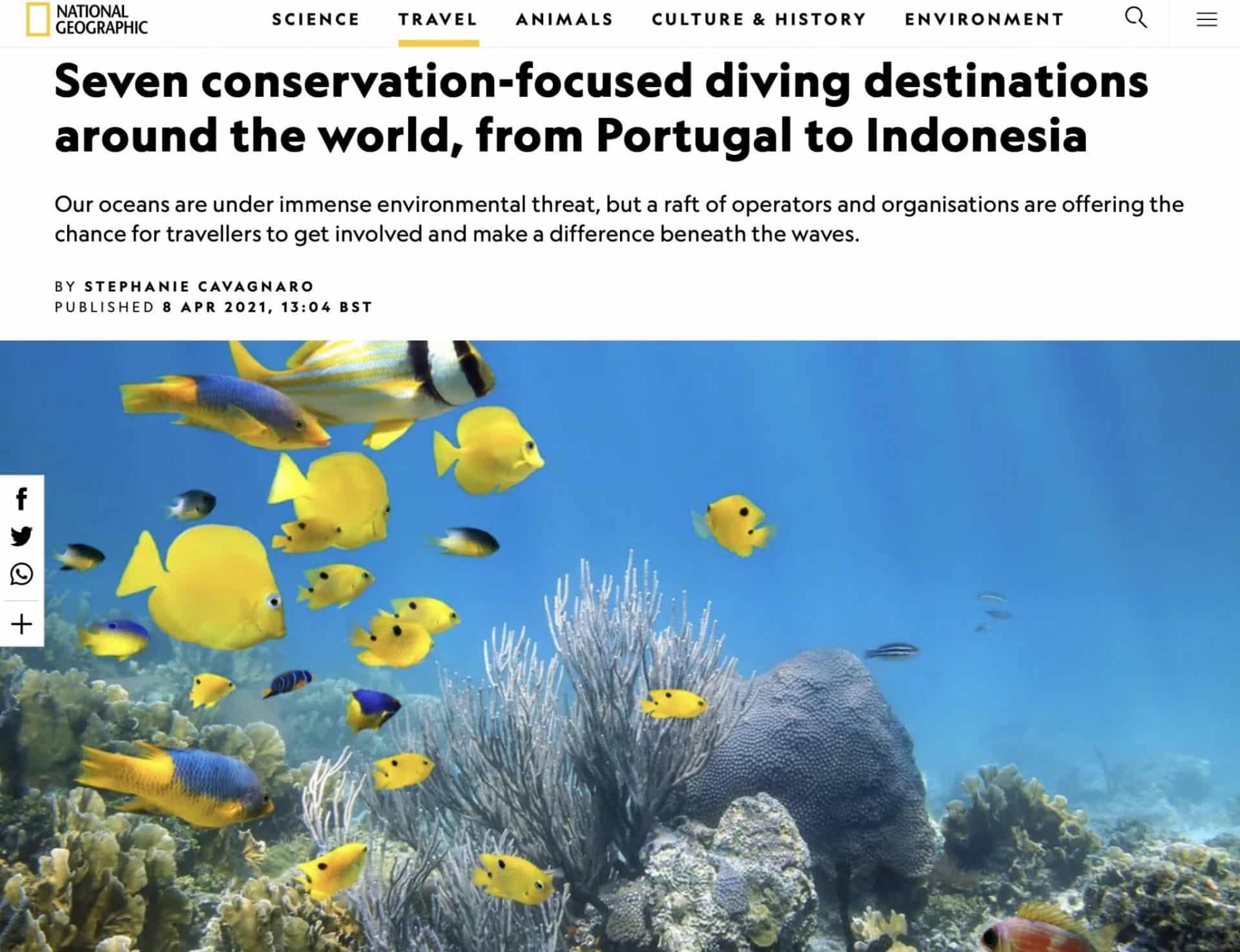 National Geograph 7 Conservation focused Dive Destinations